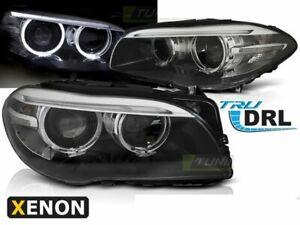 Headlights for BMW F10 F11 10-13 AE LED Black DRL Bi-Xenon LHD LPBMI2-ED XINO