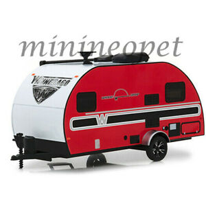 GREENLIGHT 18450 B 2017 WINNEBAGO WINNIE DROP TRAILER 1/24 DIECAST MODEL RED