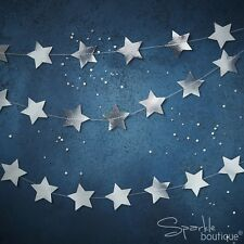 Ginger Ray Silver Foiled Star Garland Bunting Banner Party Decoration - 5 Metre