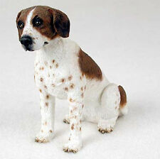 Pointer Hand Painted Collectible Dog Figurine Brown/White