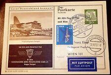 Carte Stuttgart 1963 RFA Bund 10 ans CPEA VIENNE par avion (17