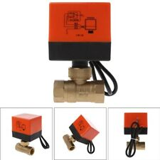 Electric Motorized Brass Ball Valve DN15 AC 220V 2 Way 3-Wire with Actuator Hot