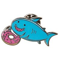 Stickeroonie Shark Pin Enamel Pin for Backpacks Cute Pins for Jackets Hat Pin