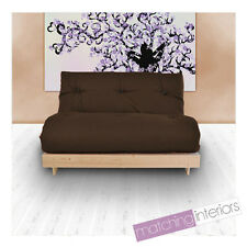 Brown Budget Double Futon Cotton Mattress 2 Seater Sofabed Sofa Guest Student