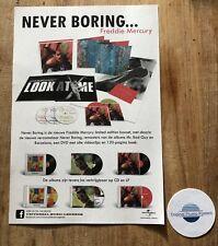 FREDDIE MERCURY (QUEEN) NEVER BORING -PROMO AD (lp vinyl picture disc box poster