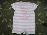 BABY - NEXT - GIRL - PINK AND WHITE BODYSUIT - AGE 3 TO 6 MONTHS