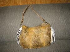 Women's Rabbit Fur Yellow Gold?? Hand Bag Purse