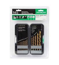 Hitachi 728173 14 Piece Titanium Drill Bit Set with Case NEW