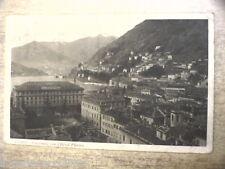 Cartolina COMO PANORAMA CON L HOTEL PLINIUS viaggiata 1927 piegatura centro di