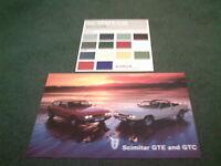 MINT 1982 1983 RELIANT SCIMITAR GTC GTE 2.8 UK SPEC SHEET+ COLOUR CHART BROCHURE