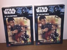 (2) Brand New Disney Star Wars 32 ct. Valentines Day Cards (64 Valentines Total)