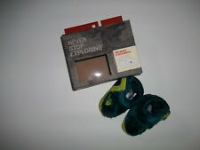 The NORTH FACE Blue Infant NSE FLEECE Booties Slippers Shoes Baby Boys Sz 2 NEW