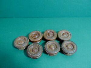 Vintage fat wooden knobs lot of 7