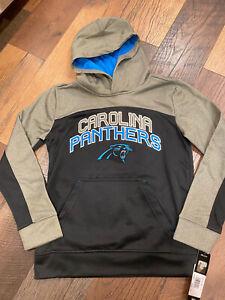Carolina Panthers NFL Youth Boys Pullover Logo Hoodie Medium (10/12) - NWT