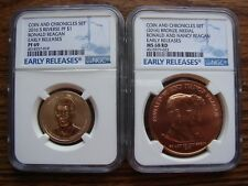 REAGAN COIN & CHRON. 2016-S REV PF-69 & NANCY MS-68 RD EARLY RELEASES SET!!!OBO