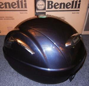 Benelli Ducati Guzzi BRAND NEW luggage rear top case + mount for helmet - GR/CHR