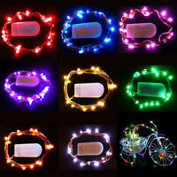 1M 10LEDs Battery Operated Mini LED Copper Wire String Fairy Lights Multi-color