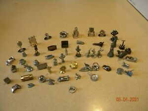 Scene it, Monopoly  clue lot of  metal game tokens, pieces. 50 + Look!!  unique