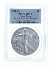 2011-(S) MS70 $1 Silver Eagle PCGS Struck at San Francisco *0289