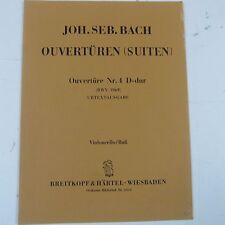 cello/bass BACH Ouvertueren Suiten Nr 4 D dur BWV 1069 Breitkopf & Haertel 4310
