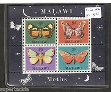 1970 MALAWI MOTHS SCOTT #141a  MNH mini sheet