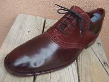 COLE HAAN Mens Dress Shoes Casual Classic Burgundy Lace Up Saddle Oxford Size 9M