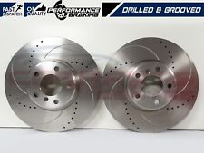 FOR BMW 5 6 7 SERIES F07 F10 F11 F12 F13 F06 FRONT DRILLED GROOVED BRAKE DISCS