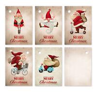25 lustige Geschenkanhänger für Weihnachten, 52 x 74 mm, 5 Motive je 5 Anhänger