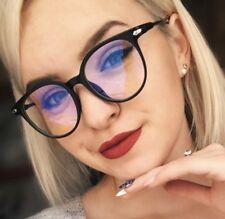 Blue Light Filter Block UV Transparent Lens Computer Glasses Anti-glare L1