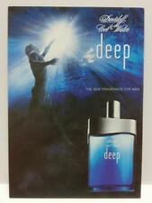 LUCKYPIGEON888 Davidoff Deep Perfume Blue Sea 2004 Singapore Ad Postcard (E0197)