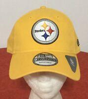 New Era Pittsburgh Steelers NFL Gold Adult One-size 9TWENTY Baseball CAP HAT NWT