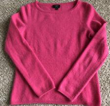 Talbots 100% Cashmere Long Sleeve Fuchsia Pink Crew Neck Sweater Petite EUC