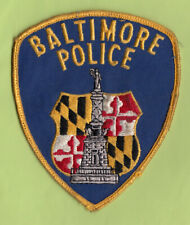 A18 * OLD BALTIMORE MD DEPARTMENT STATE POLICE GOVERNMENT PATCH