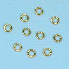 3.5MM 14k Solid Yellow Gold Open Jump Rings (10)
