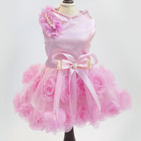 Fancy Puppy Small Dog Tutu Dress Lace Skirt Cat Princess Clothes Party Dress