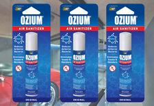 ⭐OZIUM Air Sanitizer Air Cleaner Freshener Original Odor Eliminator 0.8oz 3-PACK