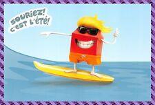 """Carte Publicitaire Mc Donald - """" Souriez c' est L'été """""""