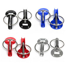 Universal Alloy Mount Bonnet Hood Pin Pins Lock Latch Kit Racing Car Motorcycle