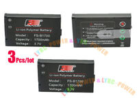 3 Pcs/Lot Flysky FS- B1700 Battery 3.7V 1700mAh For RC Transmitter i10 GT2B GT3C