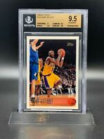 "1996-97 KOBE BRYANT Topps #138 Lakers RC Rookie BGS 9.5 GEM "" FLAWLESS """