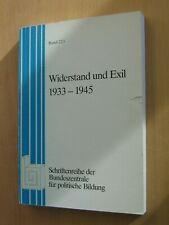 Widerstand und Exil 1933 - 1945