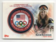 2014 Topps USA Olympic Team Commemorative Sochi Patch Alice McKennis Skiing