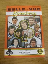 13/10/1984 Speedway Programme: Belle Vue v Poole [British League] (results table