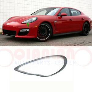 Left Side Headlight Cover Clear Pc + Sealant Glue For Porsche Panamera 2010~2013