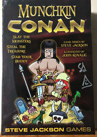 Munchkin Conan card game SIGNED BY STEVE JACKSON! (Steve Jackson Games) Must See