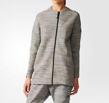 NEW Adidas Z.N.E RT VERS Travel Jacket Grey Zip Womens Girls Size M UK 12-14