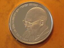 China Tibet Dalai Lama Nobel Peace Price Official 1oz Silver Proof Medal 1989