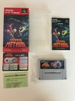 VG Super Metroid SFC Super Famicom SNES NTSC-J JAPAN CIB Tested works