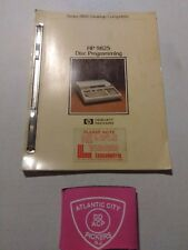 HEWLETT PACKARD 9825 DISC PROGRAMMING SERIES 9800 DESKTOP COMPUTERS