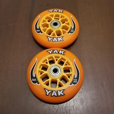 2x Razor Scooter Repalcement Wheels / pro kick push orange 100mm/98mm